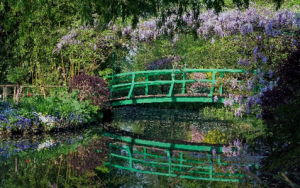 Monet painted the bridge over his lily pond in 1899